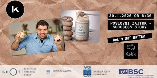 Poslovni zajtrk - success story: Rok's nut butter