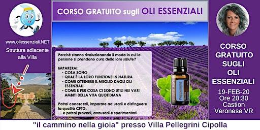 Castion Veronese (VR)  Corso Introduttivo Gratuito sugli Oli Essenziali