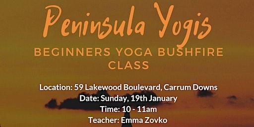 Peninsula Yogis Beginners Yoga Bushfire Class
