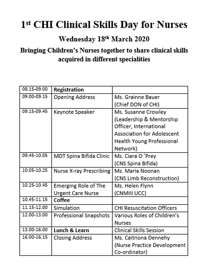 1st CHI Clinical Skills Day for Nurses image