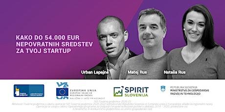 Kako do 54.000 EUR nepovratnih sredstev za tvoj startup tickets