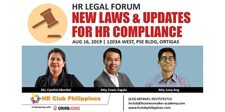 HR Legal Forum | New Laws and Updates for HR Compliance tickets