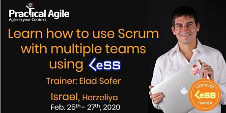Large Scale Scrum: Certified LeSS Practitioner (Israel) - Feb. 25th-27th, 2020 billets
