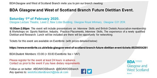 BDA Glasgow & West of Scotland Branch Future Dietitian Event