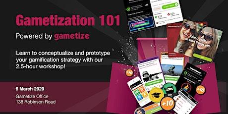Gametization 101 Workshop, powered by Gametize tickets
