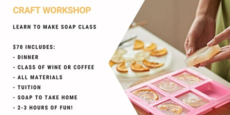 Grab a glass of wine and learn to make soap! tickets
