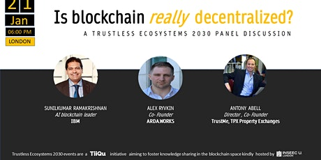 Blockchain: is it really decentralized? tickets