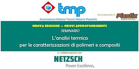 Seminario TMP in collaborazione con Netzsch biglietti