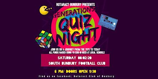 Rotaract Bunbury Generations Quiz Night
