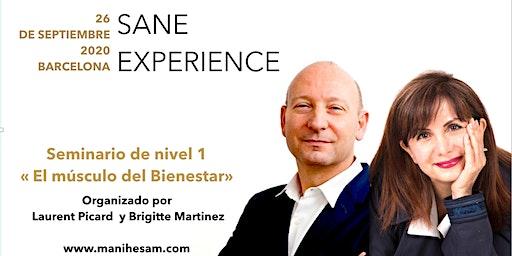 """Seminario SANE Experience Nivel 1. 26 de septiembre 2020 en Barcelona - """"El Músculo del Bienestar"""" dirigido por los Coachs SANE Instructores Brigitte Martinez y Laurent Picard."""