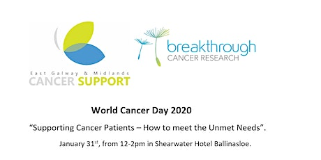 """World Cancer Day 2020 """"Supporting Cancer Patients – How to meet Unmet Needs tickets"""