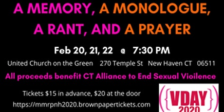 A Memory, A Monologue, A Rant and A Prayer tickets