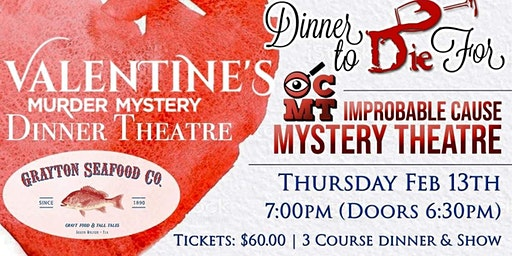 Improbable Cause Mystery Theatre - Dinner Show at Grayton's Seafood.
