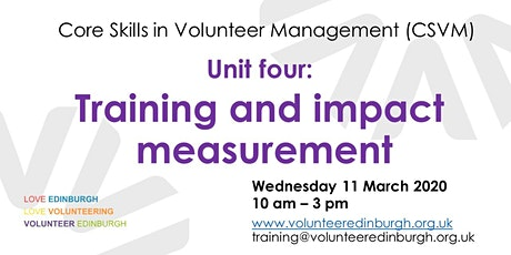 Core Skills in Volunteer Management 4: Training and Impact Measurement tickets