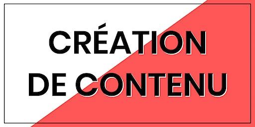 Formation Création de Contenu