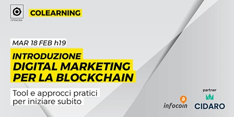 Introduzione Digital marketing per la blockchain biglietti
