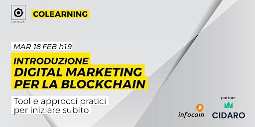 Introduzione Digital marketing per la blockchain