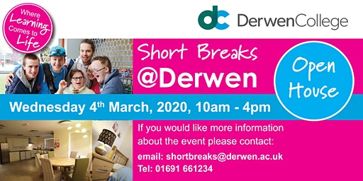 Short Breaks @ Derwen - Open House - 4th March 2020