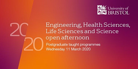 Engineering, Health Sciences, Life Sciences and Science Postgraduate Taught Open Afternoon tickets