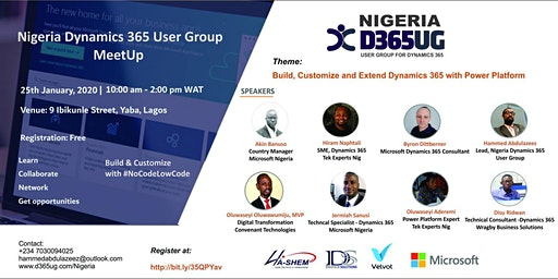 Nigeria Dynamics 365 User Group MeetUp