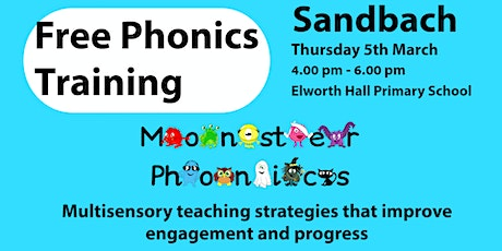 SANDBACH FREE PHONICS TRAINING tickets