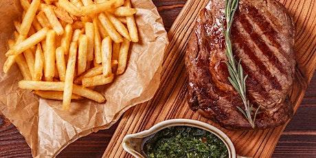 Signature Dish mit 250g Rib Eye Steak und Dessert  im Family & Friends Tickets