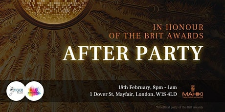 The Honorary Brit Awards After Party tickets
