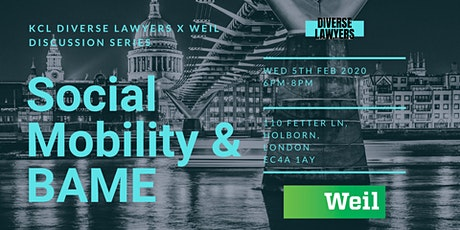 Diverse Lawyers x Weil Discussion Series: Social Mobility & BAME Identity tickets