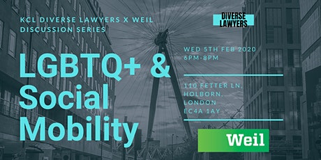 Diverse Lawyers x Weil Discussion Series: Social Mobility & LGBTQ+ Identity tickets