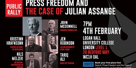 Press freedom and the case of Julian Assange tickets