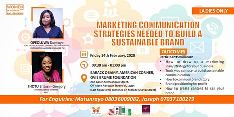 Marketing Communication Strategies Needed to Build a Sustainable Brand tickets