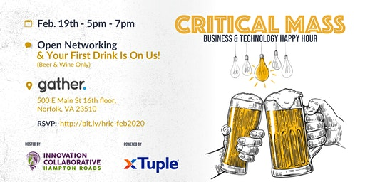 Critical Mass Business & Technology Happy Hour - Feb. 19th, 2020