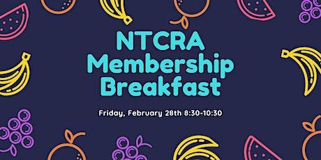 NTCRA Membership Breakfast tickets