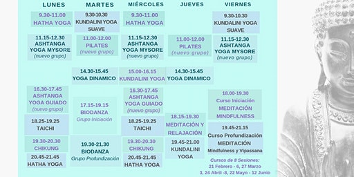 Open Day Week of Yoga, Taichi, Chikung, Pilates and Meditation classes - Día de Puertas Abiertas de las clases de Yoga, Taichi, Chikung, Pilates y Meditación