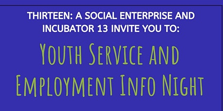 Youth Services, Entrepreneurship and Employment Info Night tickets
