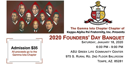 Gamma Iota Chapter of Kappa Alpha Psi Fraternity, Inc. Founders' Day Event