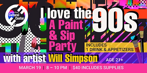 Paint & Sip Party -- I Love the 90s