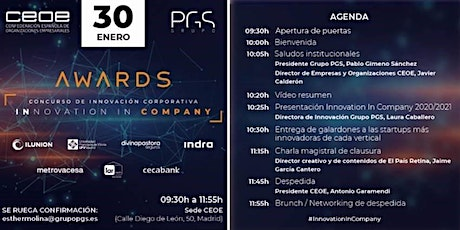 INNOVATION IN COMPANY AWARDS entradas
