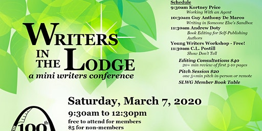 Writers in the Lodge 2020 presented by St. Louis Writers Guild