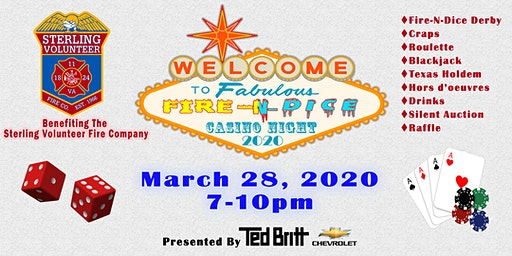 Fire-N-Dice Casino Night 2020 - Presented by Ted Britt Chevrolet