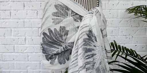 Printmaking Foliage Linen Scarf Workshop