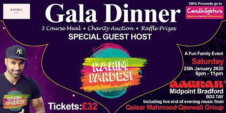 Gala dinner  hosted by Rahim Pardesi with Special Qawwali performance tickets