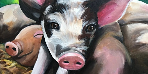Pile of Piglets Paint Party at Brush & Cork