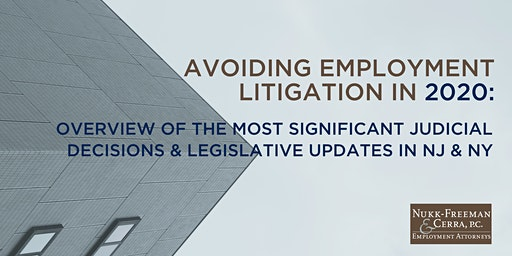 Complimentary Webinar:  Avoiding Employment Litigation in 2020