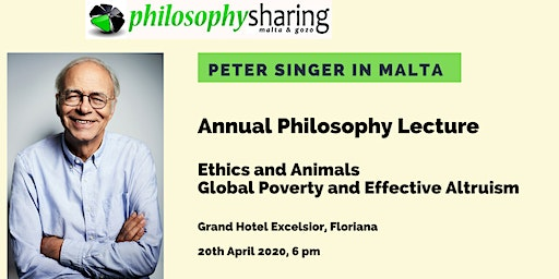 Annual Philosophy Lecture 2020 - Peter Singer