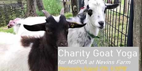 Charity Goat Yoga (Fundraiser for MSPCA at Nevins Farm) tickets