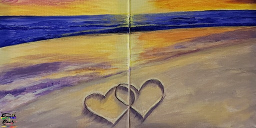 Valentine's Day Dinner & LOVE On The Beach Painting Event