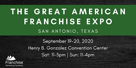 The Great American Franchise Expo: San Antonio, TX tickets
