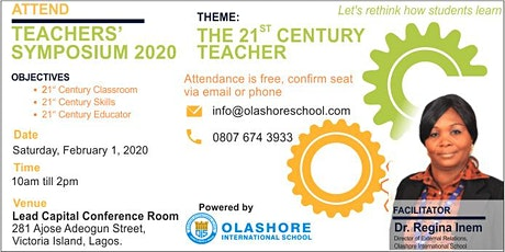 Olashore International School Teacher Symposium 2020 LAGOS ISLAND tickets