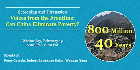 Voices from the Frontline: Can China Eliminate Poverty? tickets